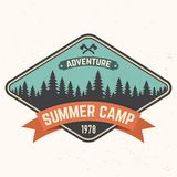 Summer camp patch. Vector illustration. Concept for shirt or logo, print, stamp or tee. Summer camp patch. Vector illustration. Concept for shirt or print vector illustration