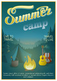 Summer Camp Poster Stock Photos