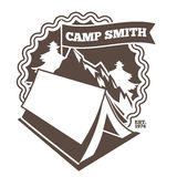 Summer camp poster. Royalty Free Stock Images