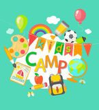 Summer Camp poster. Royalty Free Stock Photo