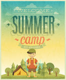 Summer camp poster. Vector illustration Stock Photography