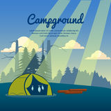 Summer camp poster. Vector illustration Royalty Free Stock Photo
