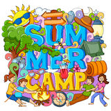 Summer Camp poster royalty free illustration