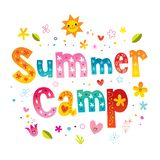 Summer camp royalty free illustration
