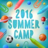 Summer camp 2016, themed poster. Vector illustration royalty free illustration
