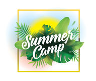 Summer camp. Vector background for posters and banners. stock illustration