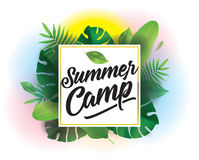 Summer camp. Vector background for posters and banners. royalty free illustration