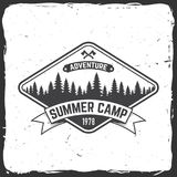 Summer camp. Vector illustration. Concept for shirt or logo, print, stamp or tee. Summer camp. Vector illustration. Concept for shirt or print, stamp or tee Stock Images