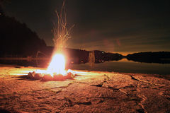 Summer Campfire Royalty Free Stock Photography