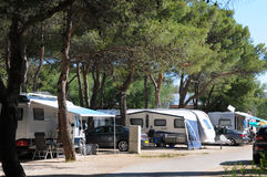 In the summer in a camping. Royalty Free Stock Images