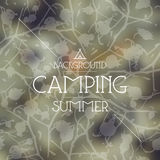Summer camping background Royalty Free Stock Photography