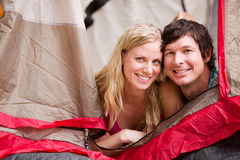 Summer Camping Couple Stock Photography
