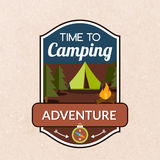 Summer Camping Emblem Stock Image