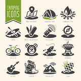 Summer camping icon set Royalty Free Stock Photography