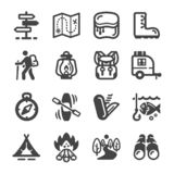 Camping icon set. Summer camping icon set,vector and illustration vector illustration