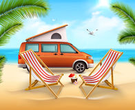 Summer Camping Poster Royalty Free Stock Photos