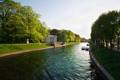Summer canals of St. Petersburg Stock Photography