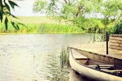 Summer canoe Stock Images
