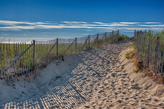 Summer at Cape Cod. Entrance to Race Point Beach Royalty Free Stock Photo