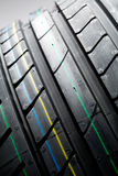 Summer car tire - thread pattern Stock Image