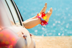 Summer car trip Stock Photography