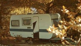 Summer caravan-retro style stock video
