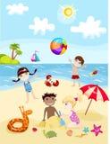 Summer card. Vector illustration of a summer card Stock Image