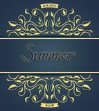 Summer card with floral pattern Stock Image