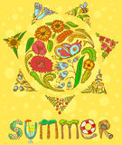 Summer card Royalty Free Stock Image