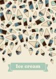 Summer card ice cream Stock Photography