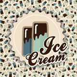 Summer card ice cream Royalty Free Stock Image