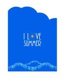 Summer card Stock Photo