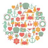Summer card Royalty Free Stock Photos