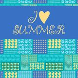 Summer card. Seamless pattern. Hand drawn doodles Royalty Free Stock Photography