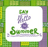 Summer card. Seamless pattern. Hand drawn doodles Stock Photo