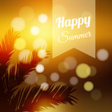Summer  card, tropical sunset,  Stock Image