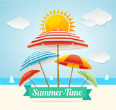 Summer Card. Vector Royalty Free Stock Image