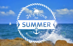 Summer card. Vector blurred background. Stock Photos