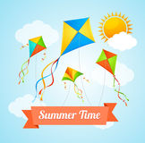 Summer Card. Vector Royalty Free Stock Images