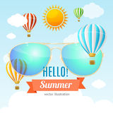 Summer Card. Vector Stock Images