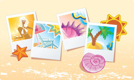 Summer cards. On sand, vector illustrtration Stock Image