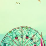 Summer Carnival. Ferris Wheel with sky background Stock Images