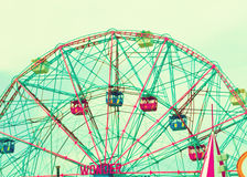 Summer Carnival. Ferris Wheel with sky background Stock Image