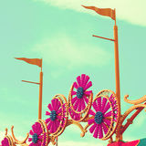 Summer Carnival. Carnival lights with sky background Royalty Free Stock Photos