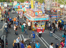 Summer Carnival. People enjoy games, food and rides at a summer fair in Delaware County, Pennsylvania.  Taken May 17, 2014 Royalty Free Stock Images