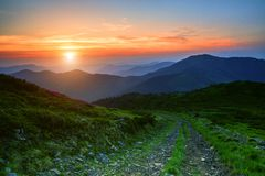 Summer Carpathian landscape Stock Image