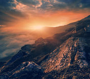 Summer Carpathian landscape Stock Images