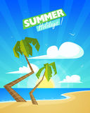 Summer Cartoon Background Royalty Free Stock Images