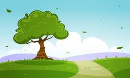 Summer Cartoon Landscape Stock Photo