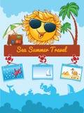 Summer cartoon template Stock Image